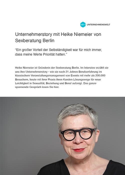Unternehmerwelt Interview mit Heike Niemeier Sexberatung Berlin